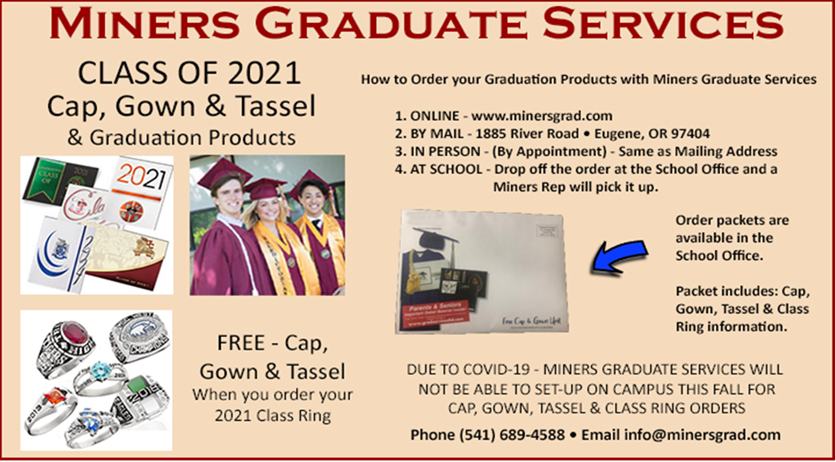 Click here to submit your graduation order online.